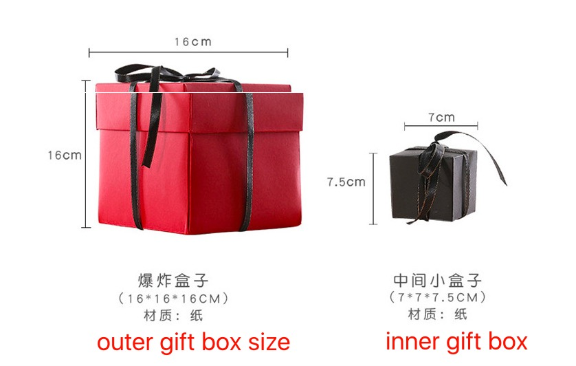 China custom wholesale explosion blast birthday propose gift unique surprise box