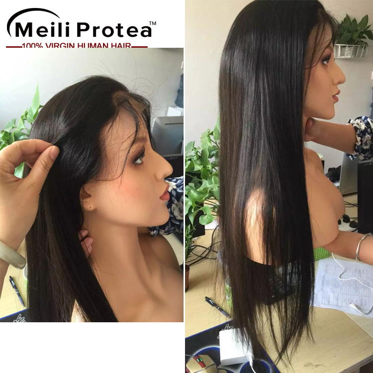 Alibaba.com / 2016 Unprocessed Brazilian Virgin Full Lace Human Hair Wig, Wholesale Human Hair Full Lace Wig with Baby Hair
