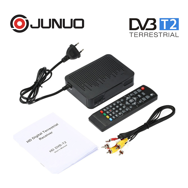 Junuo DVB-T2 digital tv receiver <strong>set</strong> <strong>top</strong> <strong>box</strong> for albania with usb pvr