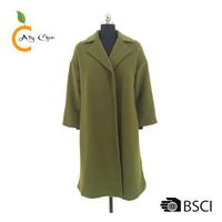 Wool-blend fabric Loose fit ladies long winter coat women design