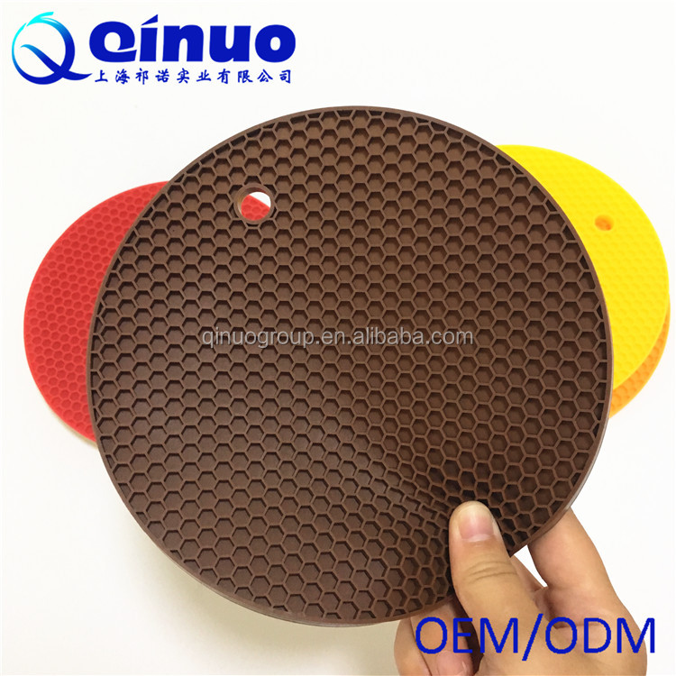 Custom food grade heat- resistant silicone heat proof pad