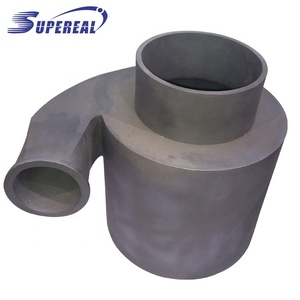 RBSIC silicon carbide cyclone liner tube / pipe as wear liner of cyclone
