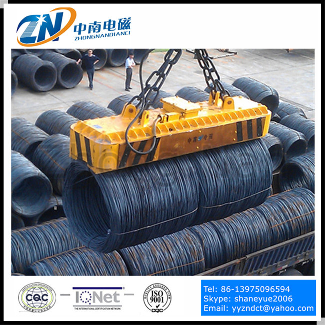 Rectangular Type magnetic lifting for high temperature wire rod coil MW19-63072L/2