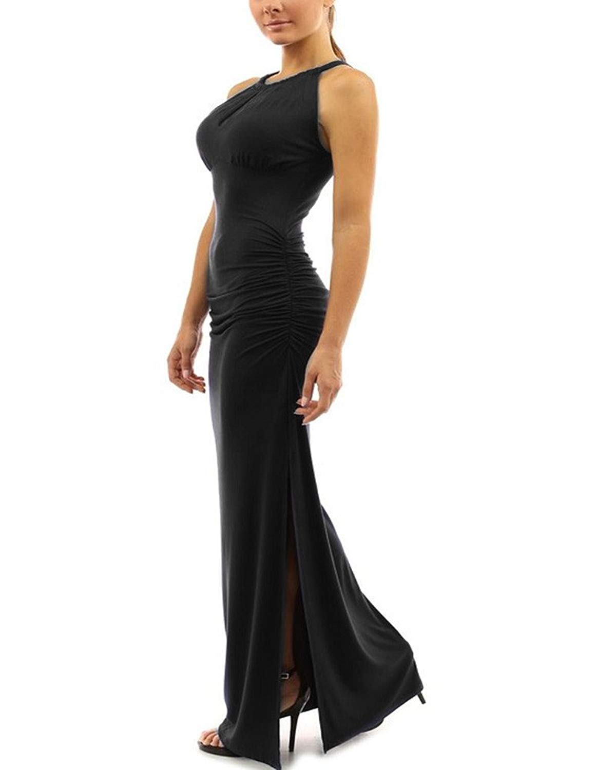 6623db1f3631 Get Quotations · Huafeiwude Womens Sexy Slit Long Maxi Bodycon Dresses  Evening Party Dresses