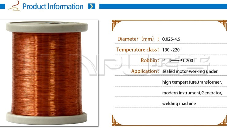 Class 155-220 Ultra-thin Copper Wire 22 Gauge Copper Magnet Wire For ...