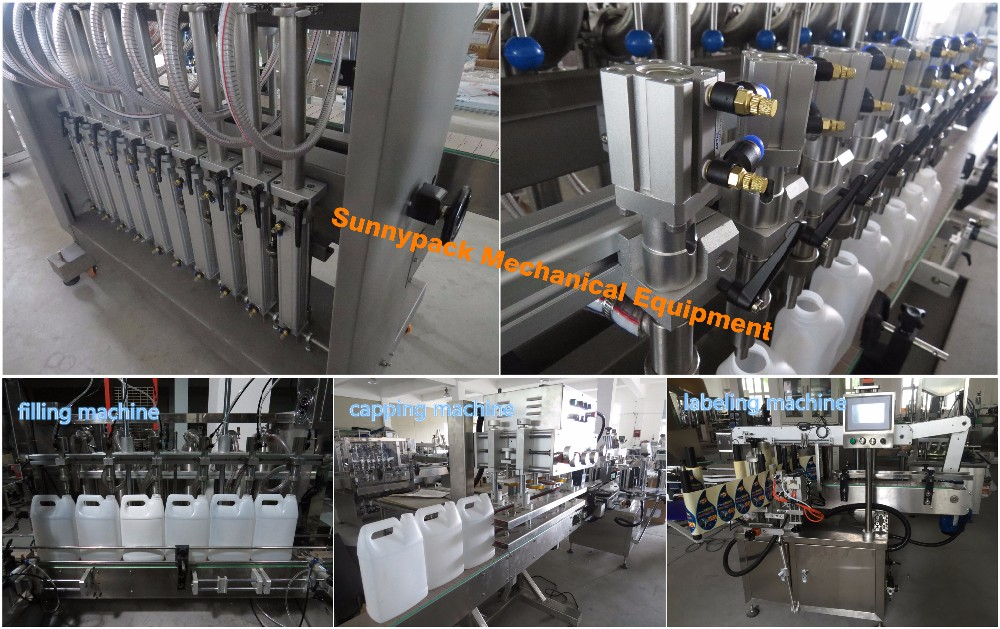 automatic 1L to 5L oil bottle filling capping machine, View