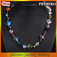 Wholesale Handmade Rainbow Crystal Glass Faceted Beads Necklace