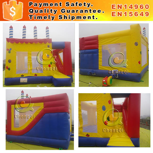 birthday cake inlatable bounce house birthday theme bouncy castle