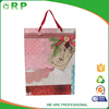 Fancy design pink dot bow knot and button sweet paper shopping bag