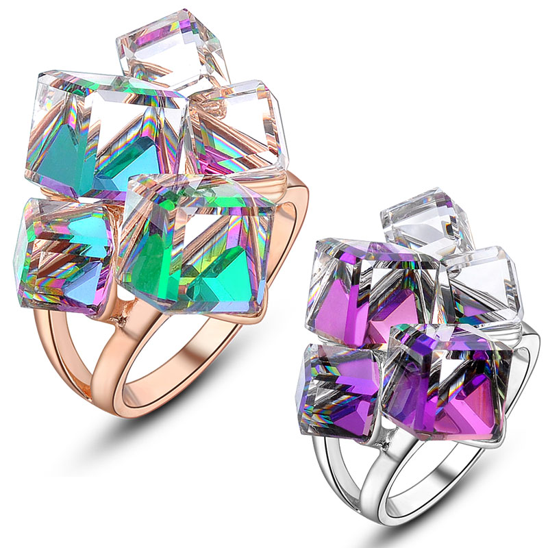 Fashion Quality Crystal Latest Gold Finger Ring Designs White Gold