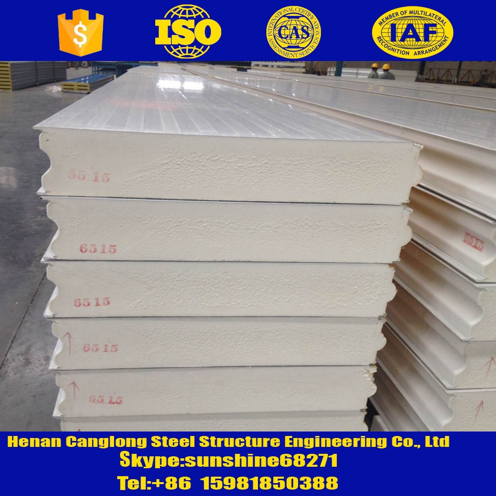 High quality cold room pu insulation wall sandwich panel