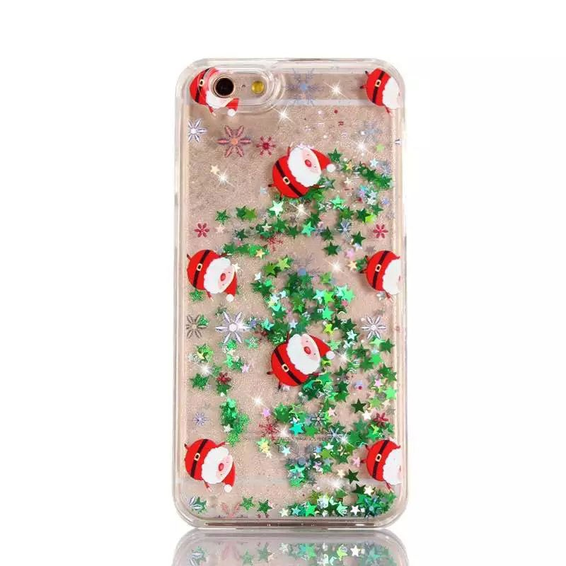 more photos 2d0ff d703d Quicksand Cover Cases Christmas Phone Case Hard Plastic Cover For Iphone 7  7 Plus Liquid Phone Cover For Samsung Galaxy J7 - Buy Quicksand Case For ...