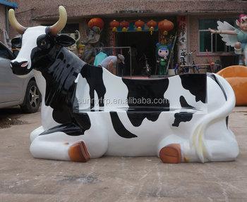 Outdoor Fiberglass Cow Chair