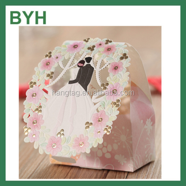 Wholesale Laser Cut Wedding Favor Candy Paper Box