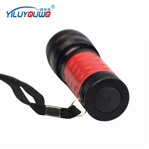 12 LED uv aluminium flashlight