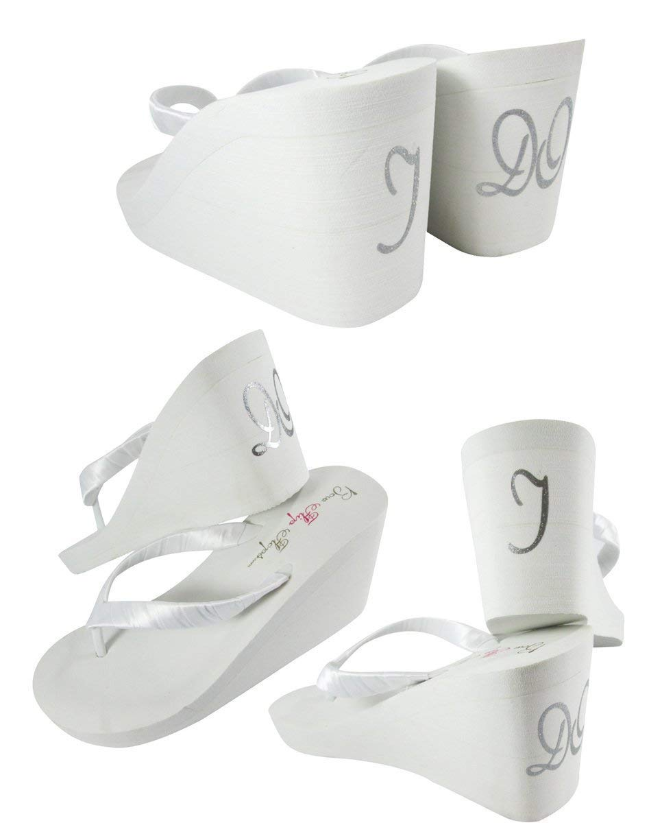 a95bb3977f1 Get Quotations · Silver or any Color I DO on back of 3.5 inch or any heel  Height Flip