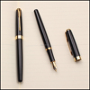 Top Quality Stainless Steel Black Metal Fountain Pen Gift Promotional Pen
