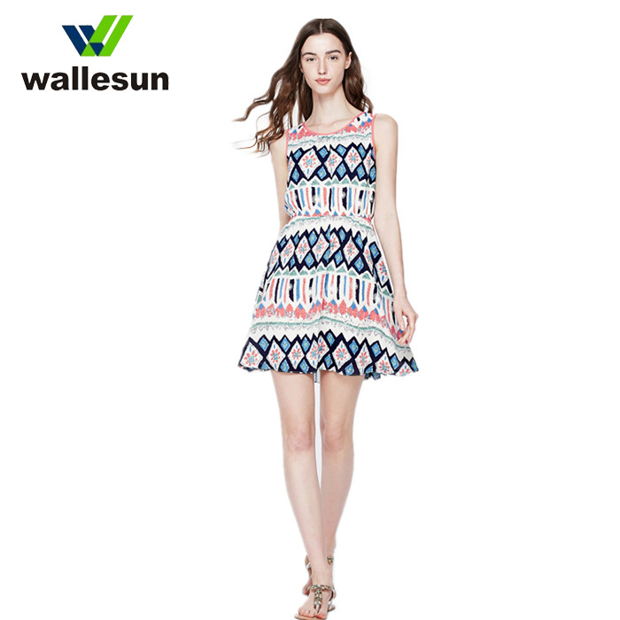 2019 Spring New Crop Plus Size Lady Sexy V Neck Flower Dress Printed Clothing Women Dresses