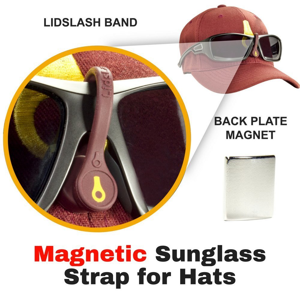 3a82e8a96e LidsLash Magnetic Sunglass Strap Eyewear Retainer for hats - Glasses strap  is perfect for hunting
