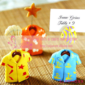 Wedding Favors- Hawaiian Shirt Place Card HoldersBuy Shirt Place ...