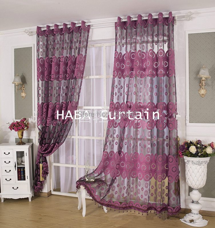 2color beautiful curtain design ideas tulle voile window curtains and drapes applique sheer curtain cool for - Curtain Design Ideas