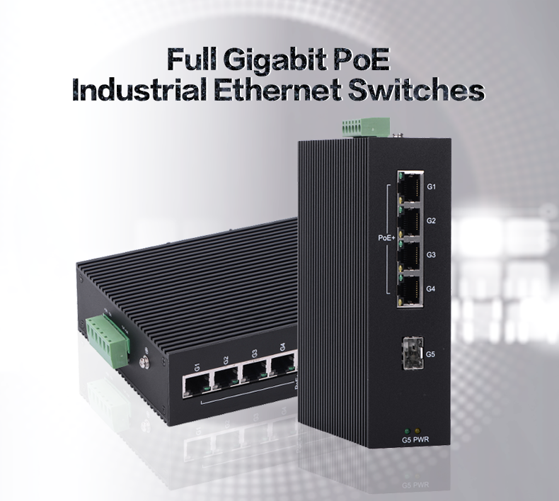 4G+1G industrial gigabit fiber ethernet media converter for camera security outdoor PoE switch