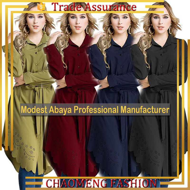 2014# Wholesale Latest Fashion Design Moroccan Tops For Women Long Sleeve Lady Blouse Tunic Muslim Dress, Black;blue;red;green/customized