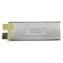 GEB6043125 3.2V2300mah 30C high rate LiFePO4 battery for RC products