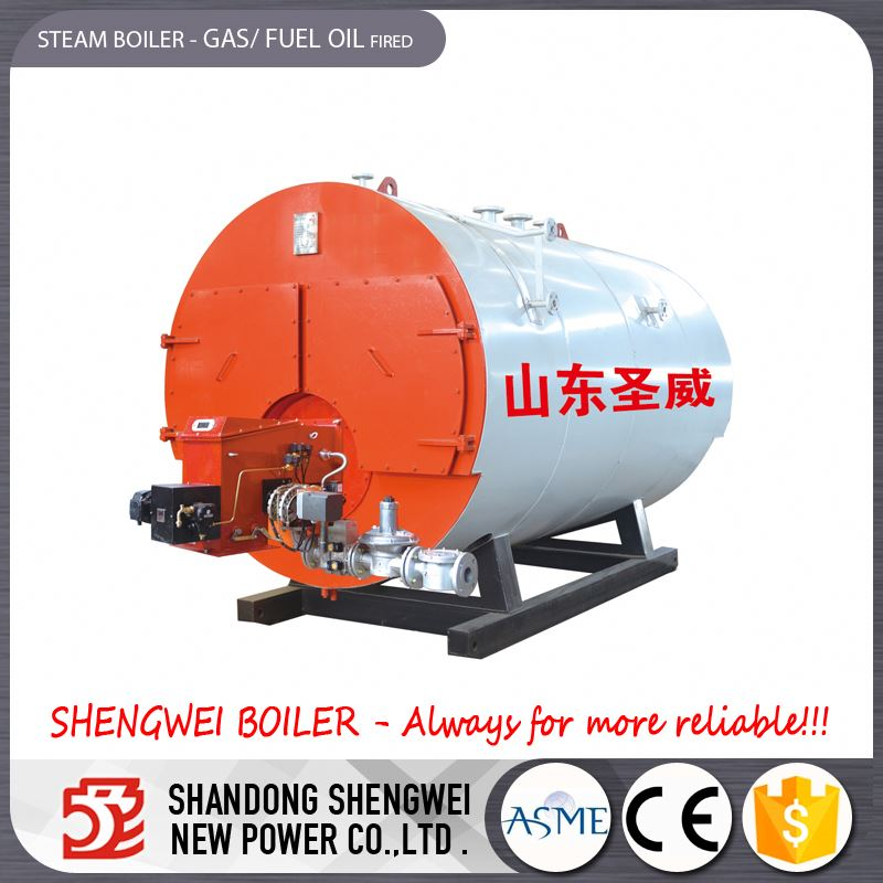 Wet Back Gas Oil Fuel Fired Industrial Steam Boiler