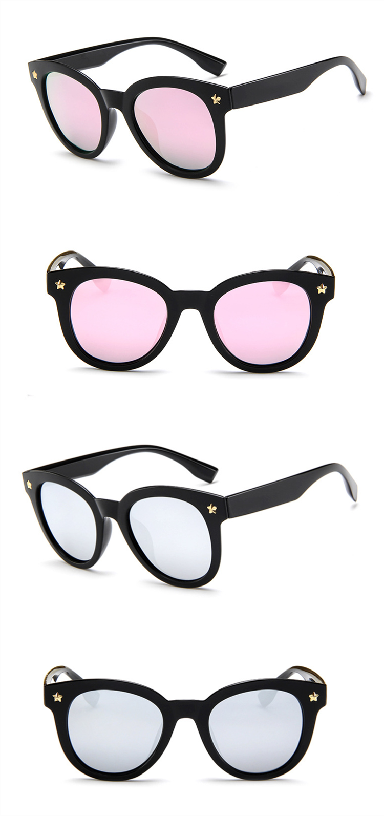 2019 New Style Faconnable Innovative Eyewear Good AC Lens PC  Metal Square Frame Flexible  Custom Women  Fashion Sunglasses