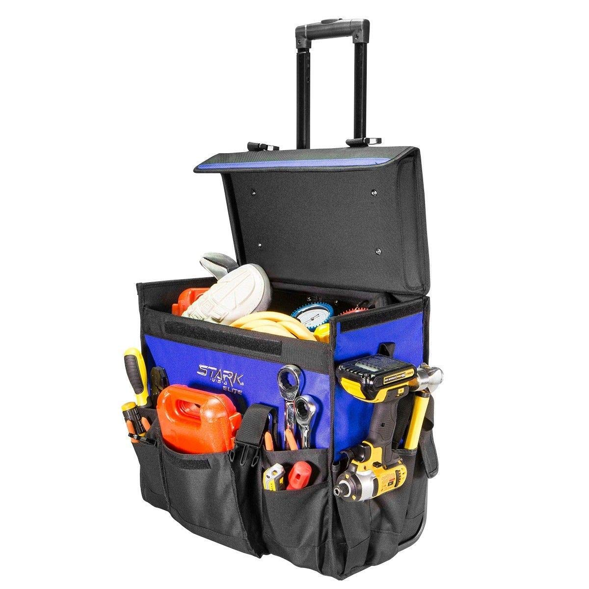 """KCHEX>XLarge 20"""" Rolling portable Heavy Duty Portable Tool Bag Storage Organizer Tote>20inch. Rolling Tool Tote is the perfect tool bag for saving you a trip to the truck."""