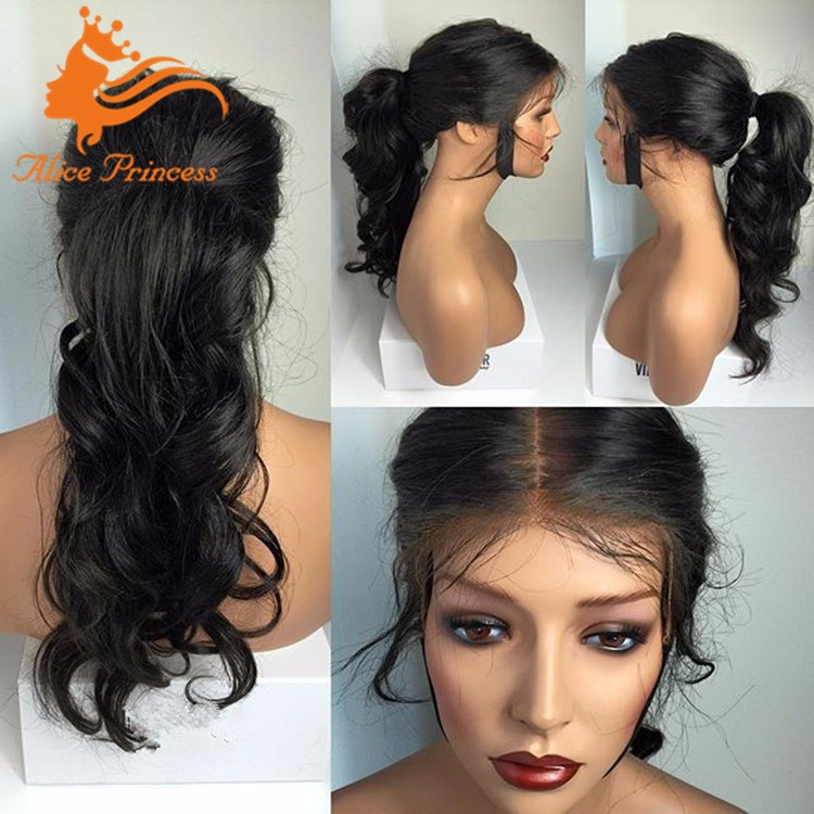 Cheap Body Wave Silk Top Full Lace Wig Midlle