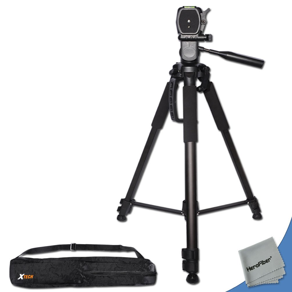 Buy Durable Pro Grade 72 Inch Full Size Tripod With 3 Way Pan Head Panasonic Ag Ac90 Professional Bubble Level Indicator Section Aluminum Alloy Lock In Legs For Sony Pmw Ex1 Camcorder