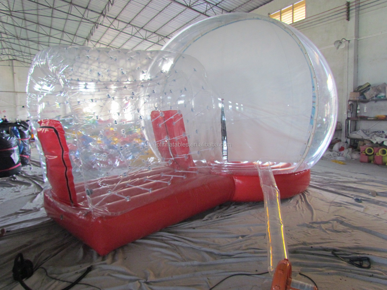 Amusement park party used snow globe inflatable bounce house/ inflatable jumping bouncy mushroom house for kids