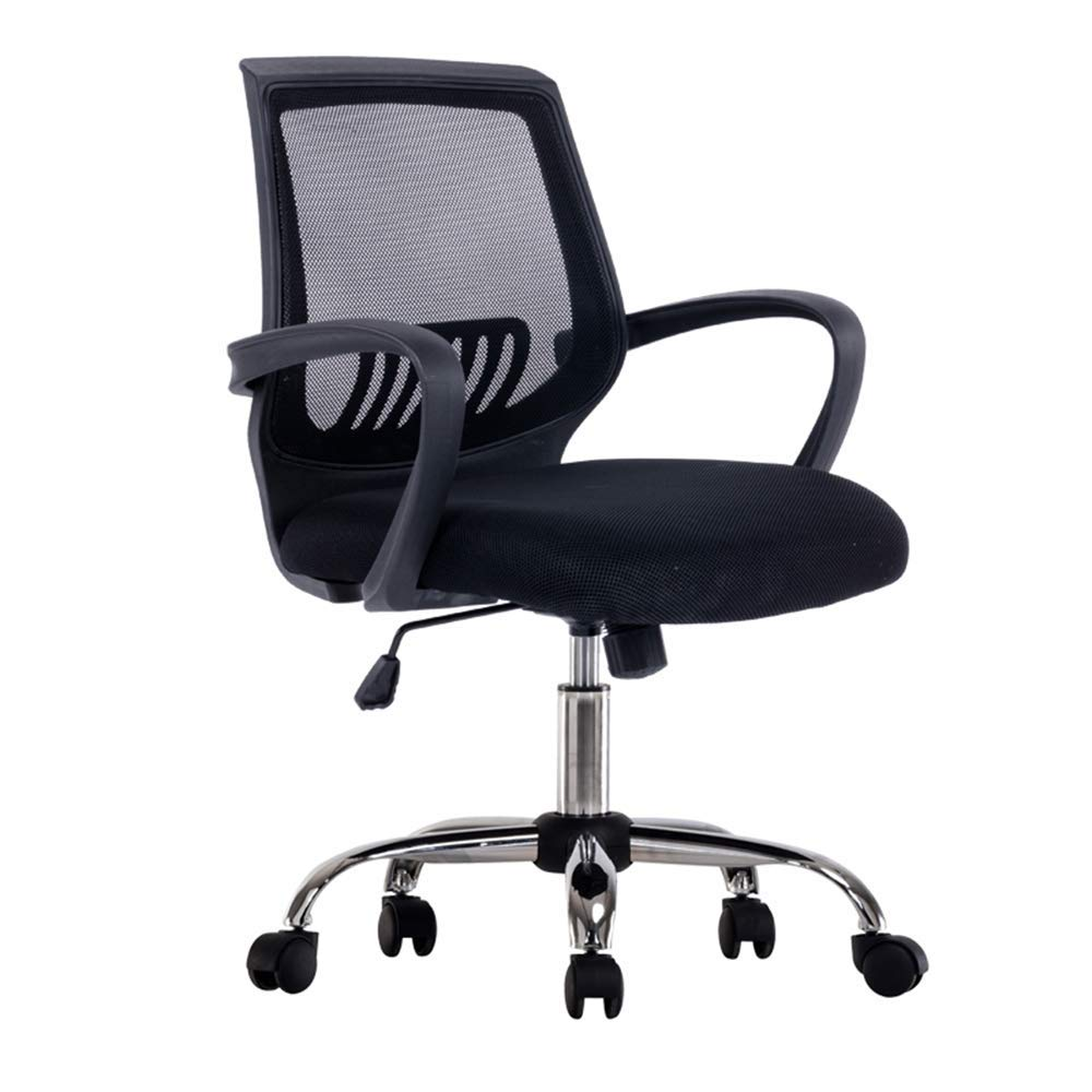 QFFL jiaozhengyi Swivel Chair, Home Computer Chair Lifting and Rotating Office Boss Chair Student Backrest Study Chair (Color : Black)