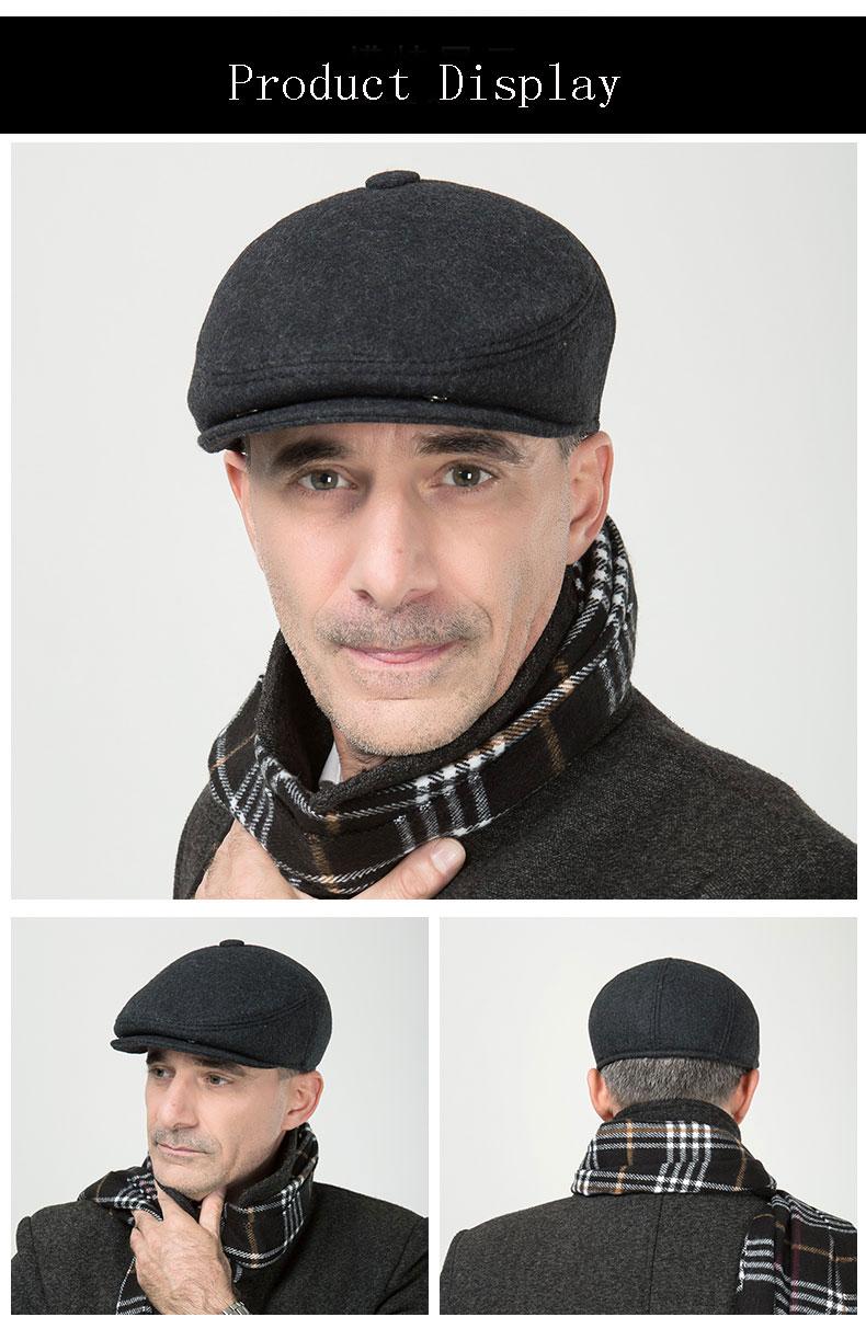 Gorro de lana de invierno para proteger el oído gorro de hombre caliente  boinas militares plegables de ocio al aire libre grueso gorra de soldado  aeProduct. 8bc321ca3a1