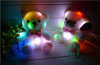 HI CE 2017 valentines day gift cute plush led lighting teddy bear toy