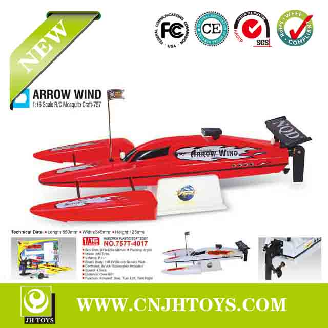 Hot Selling! 1:16 High Speed Radio Control Rc Boat 757T-4017