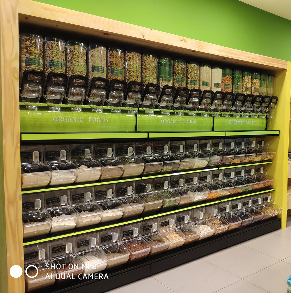 supermarket and Retail Store Plastic Bulk Food Bin Candy Box Scoop Bin