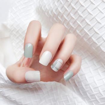 Blanco Claro Natural Uñas Largo Stiletto De La Cubierta Completa Diseños De Uñas De Arte Buy Diseños De Arte De Uñasdiseños Completos De Decoración