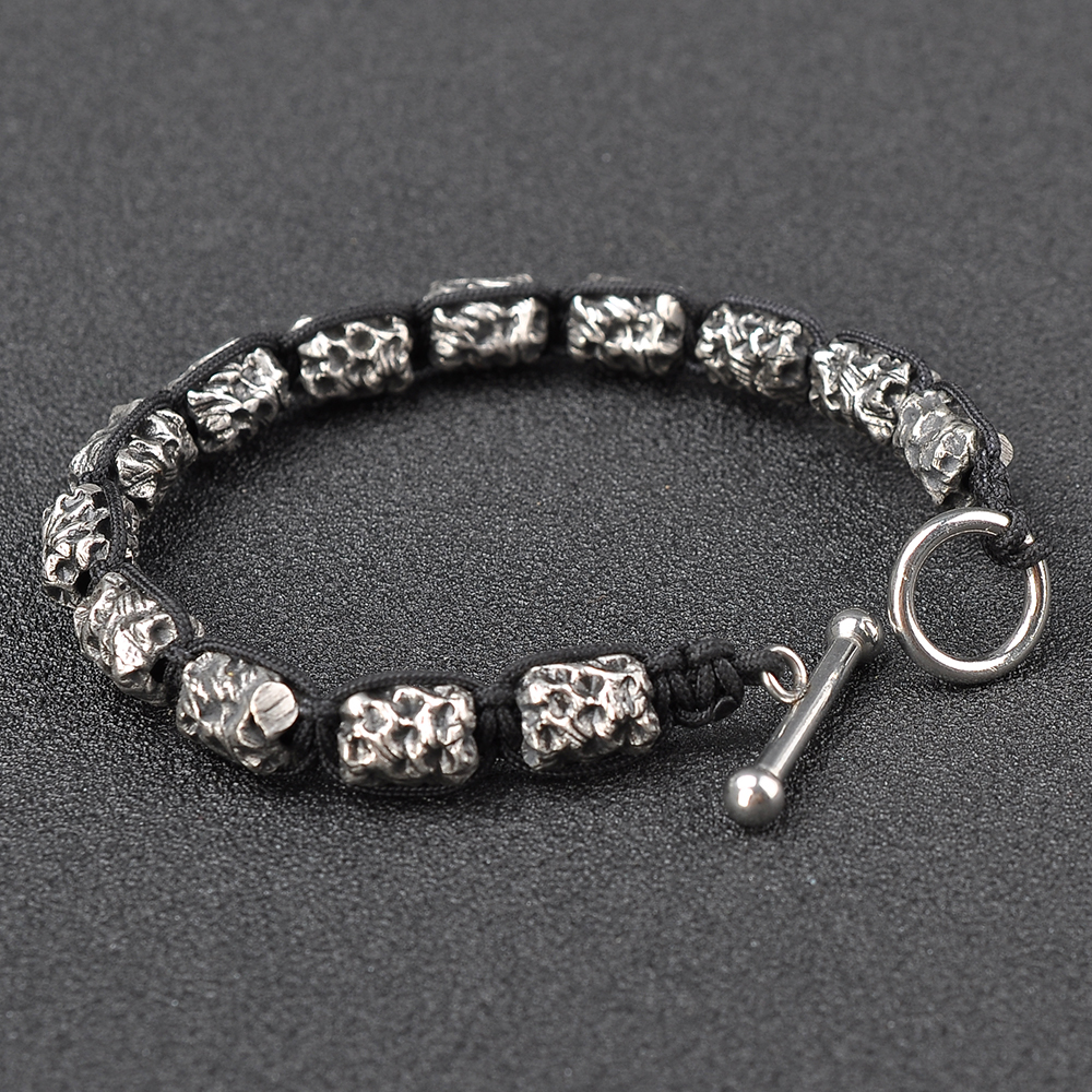 Wholesale Newest Fashional Personalized Black Rope Shambala Bead Bracelet