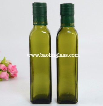 Extra Virgin Cooking Oil Dark Green Glass Bottles