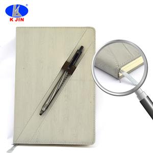 Customize slap-up PU notebook with pen for office meeting minutes