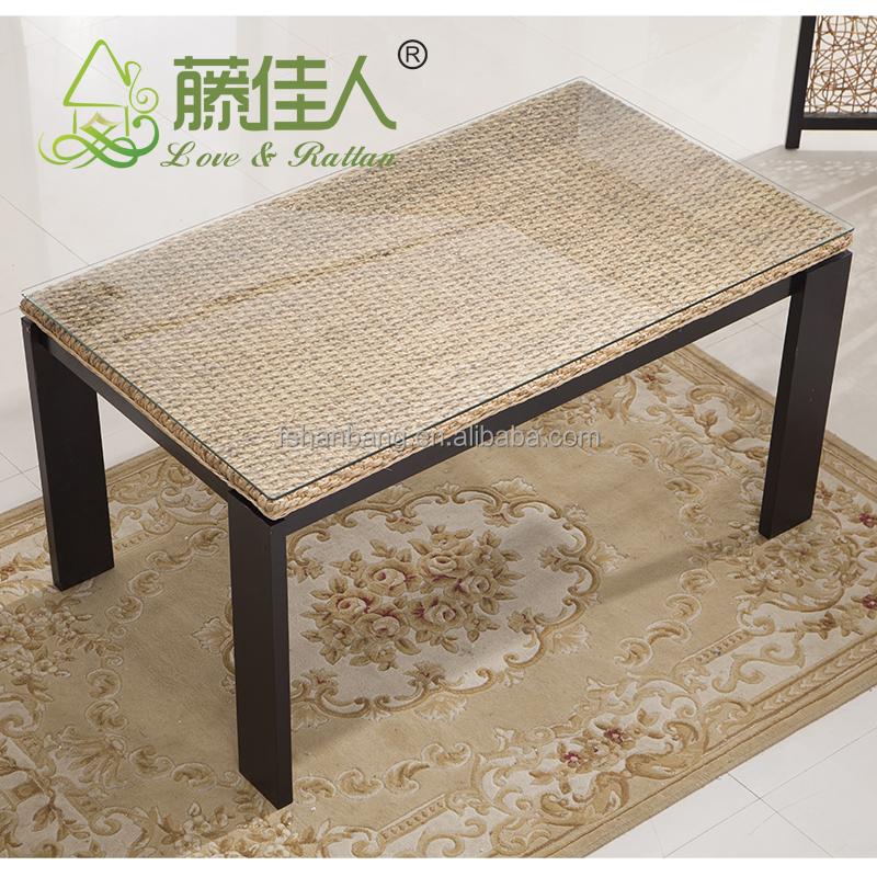 java wohnen wintergarten nat rlichen rattan wasserhyazinthe bambus esstisch st hle gesetzt bali. Black Bedroom Furniture Sets. Home Design Ideas