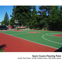 Acrylic sport court solid surface