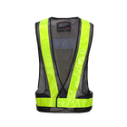 Reflective Safety Vest Body Safe Protective Traffic Facilities Running Cycling Sports Safety Vest mesh Yellow Orange Blue