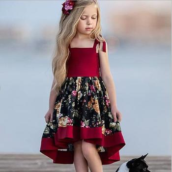New arrival children clothing 2019 baby girls vintage floral party dress