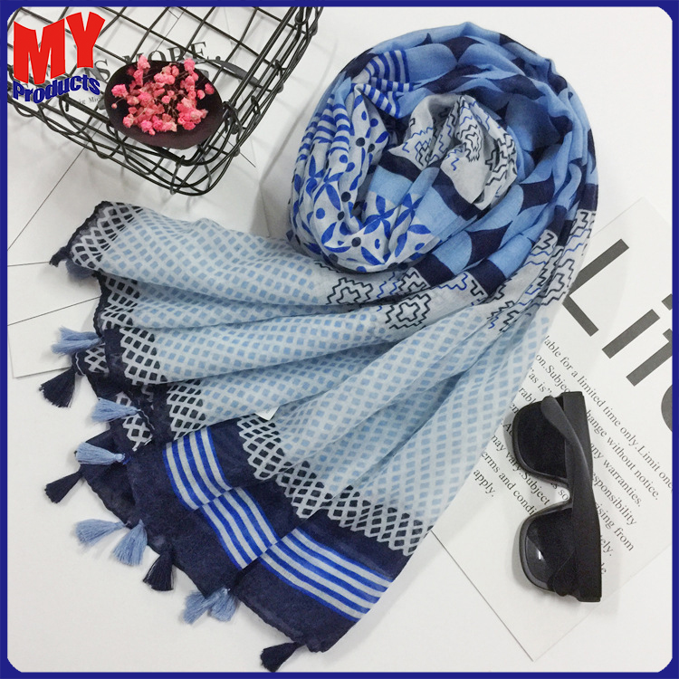 Latest hand embroidery designs scarf head wrap adult cheap polyester chiffon fashionable scarf