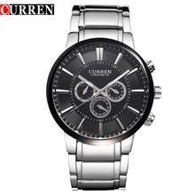 2957c573374 CURREN 8001 Relógios de Marca de Quartzo Homens de Negócios de Luxo  span  class