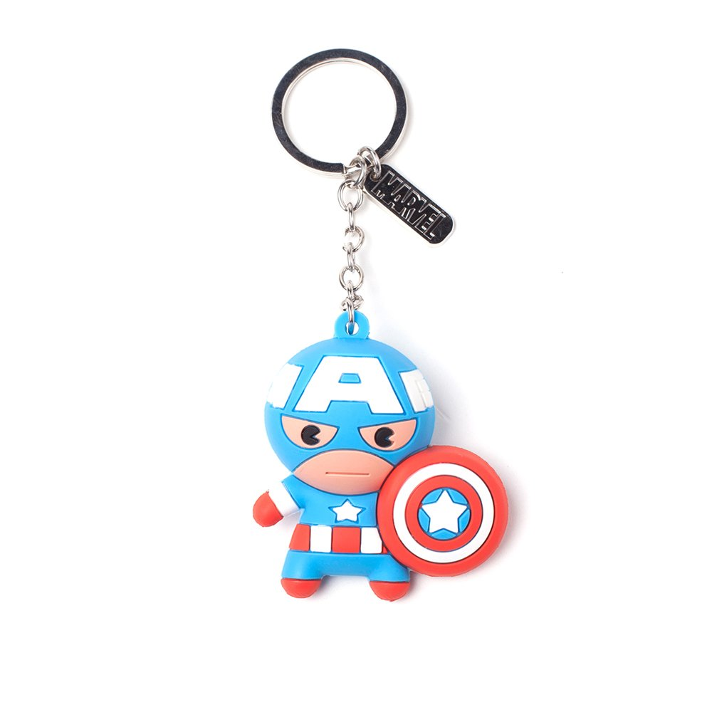 2D superhero mixed PVC rubber keychain,superman engraved metal keychain, custom fashion keyring for gifts